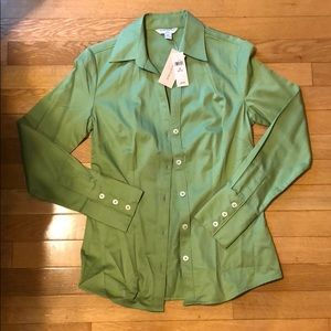 Banana Republic Green Collard Button Down Shirt